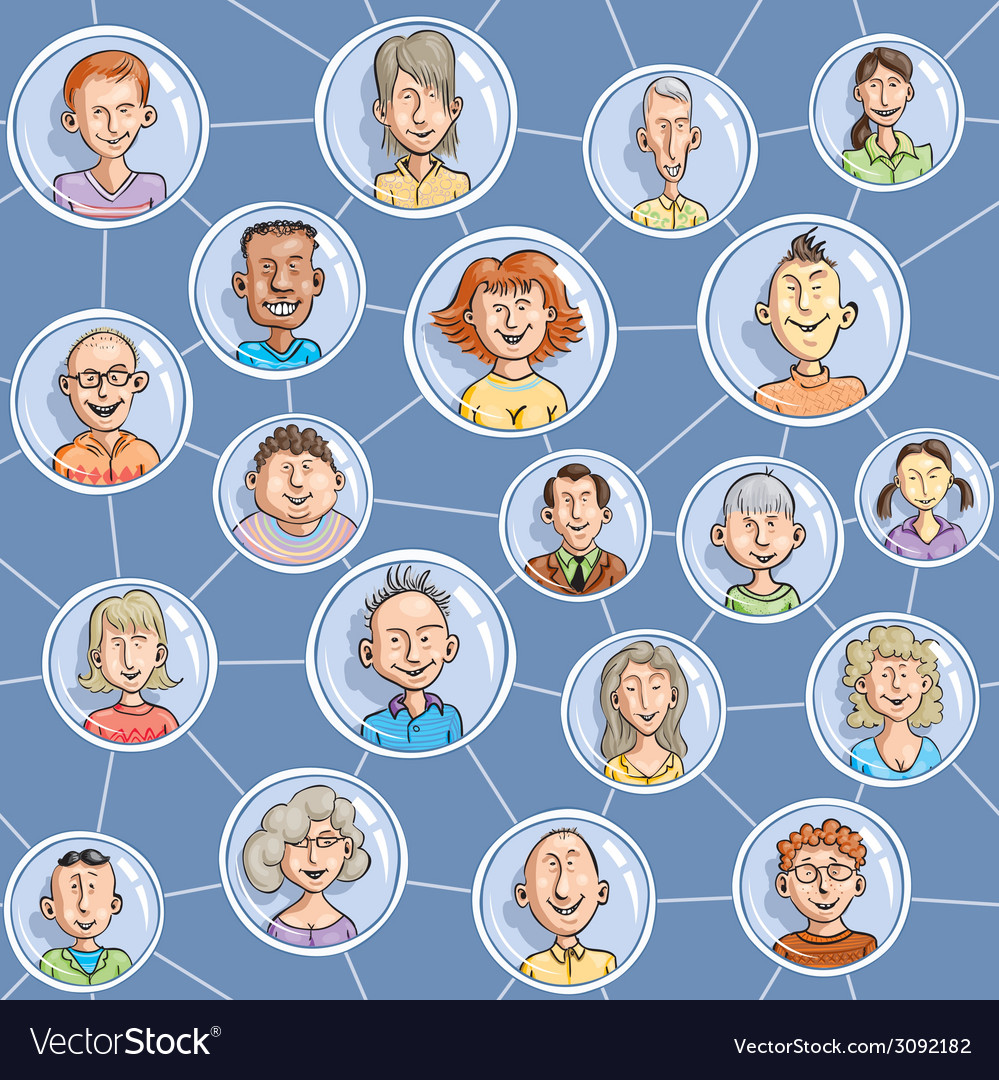 Seamless social network vector | Price: 1 Credit (USD $1)