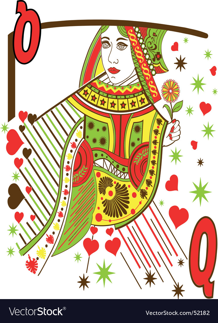 Woman playing cards vector   Price: 1 Credit (USD $1)