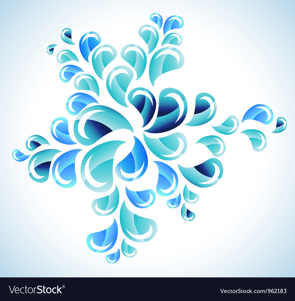 Abstract bright water splash vector | Price: 1 Credit (USD $1)