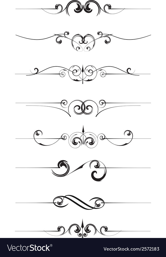 Decorative page rules vector | Price: 1 Credit (USD $1)