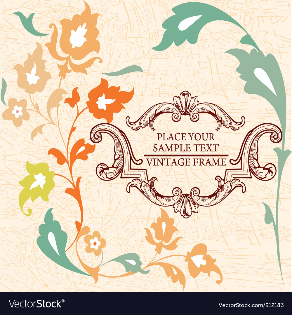 Elegance vintage card place for text or message vector | Price: 1 Credit (USD $1)