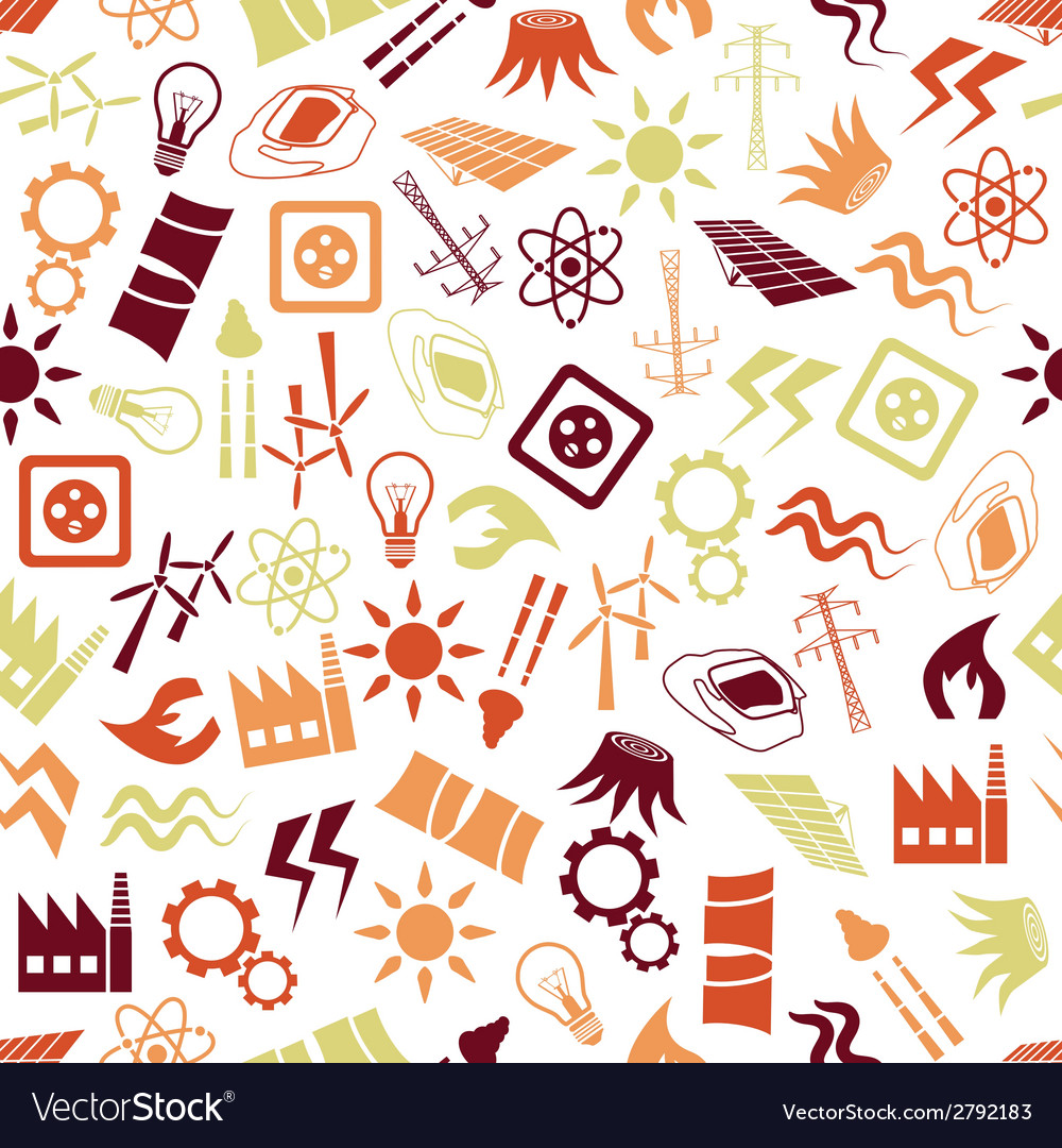 Energy seamless pattern vector | Price: 1 Credit (USD $1)