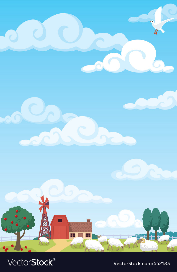 Farm background vector | Price: 1 Credit (USD $1)