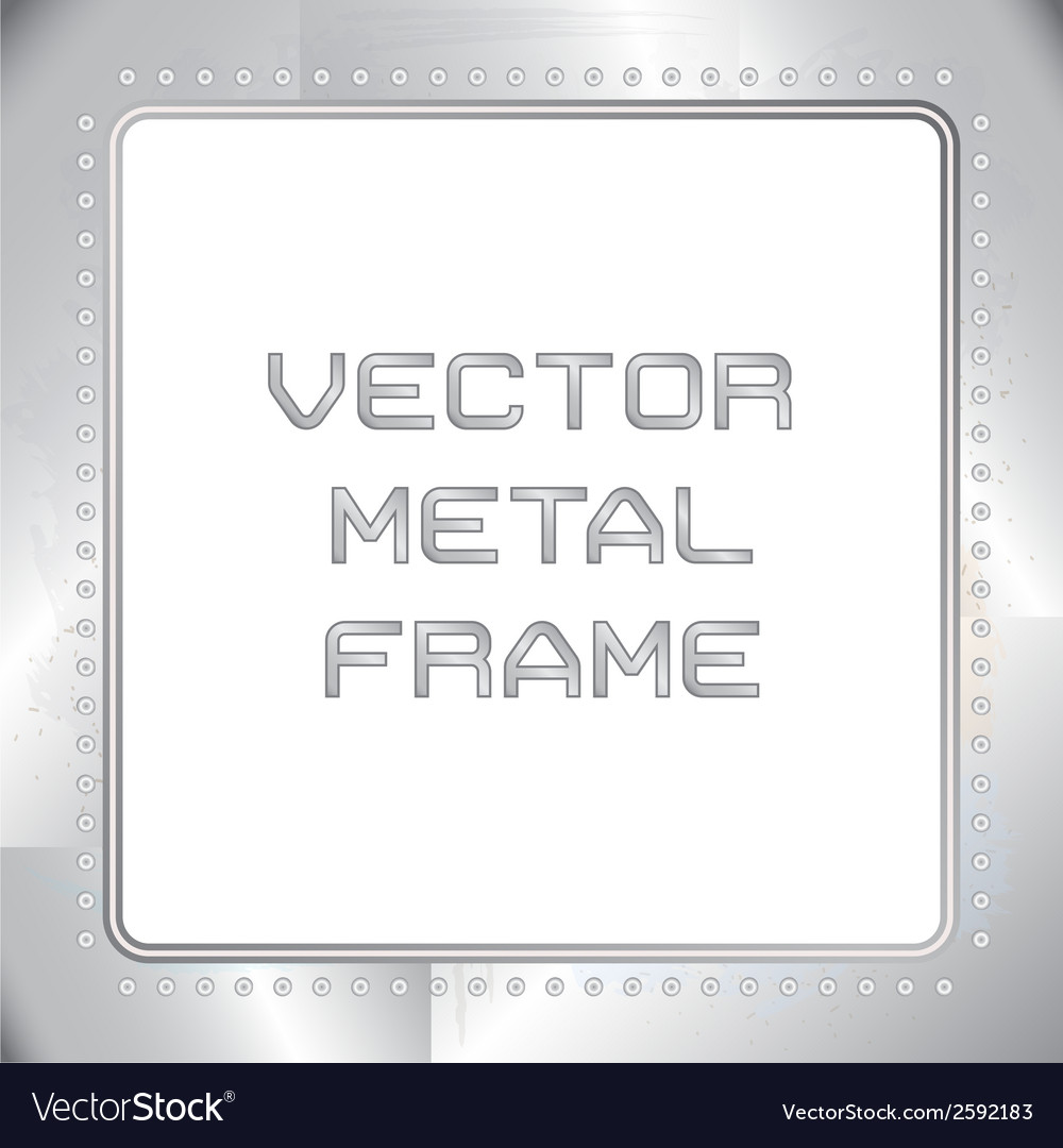 Old riveted metal frame vector | Price: 1 Credit (USD $1)
