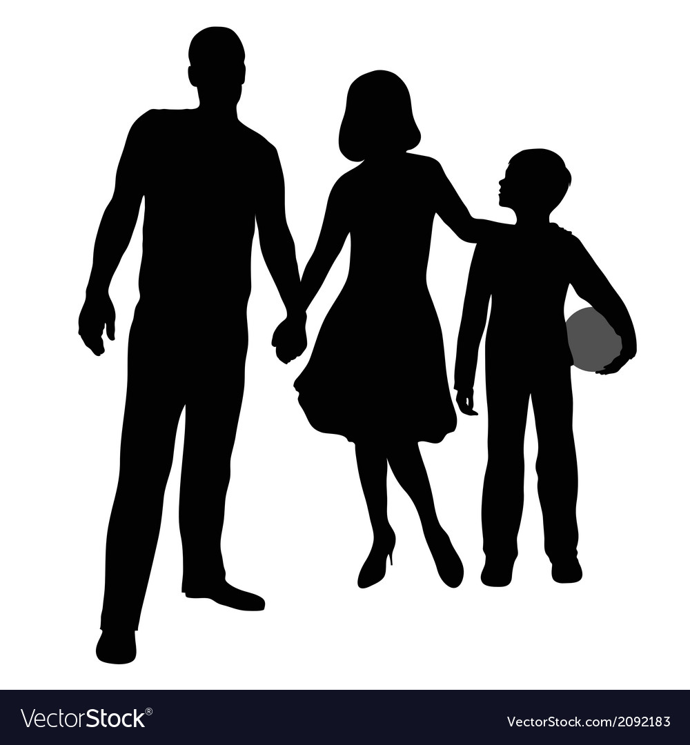 Parents and son vector | Price: 1 Credit (USD $1)