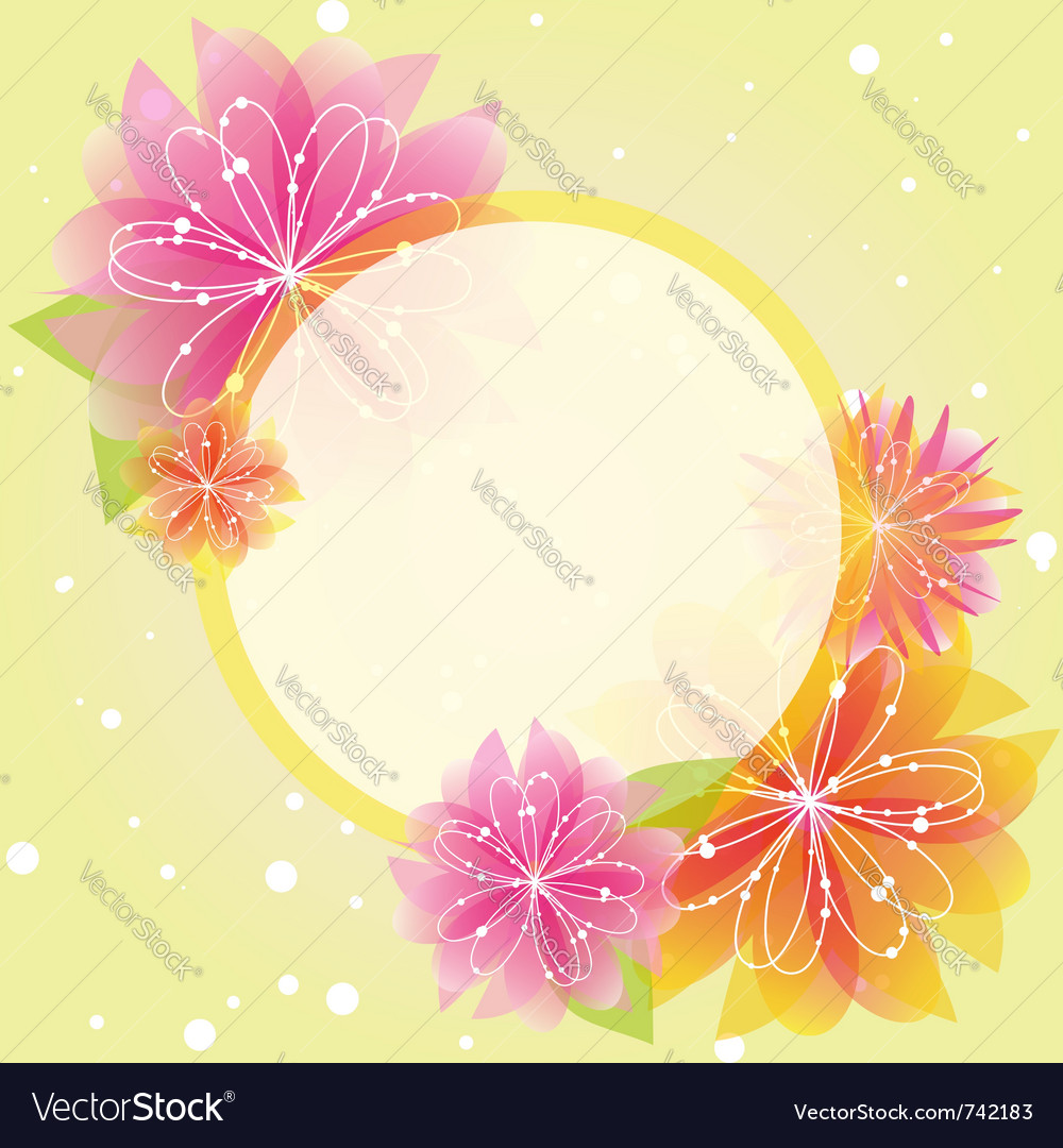 Springtime colorful flowers vector | Price: 1 Credit (USD $1)