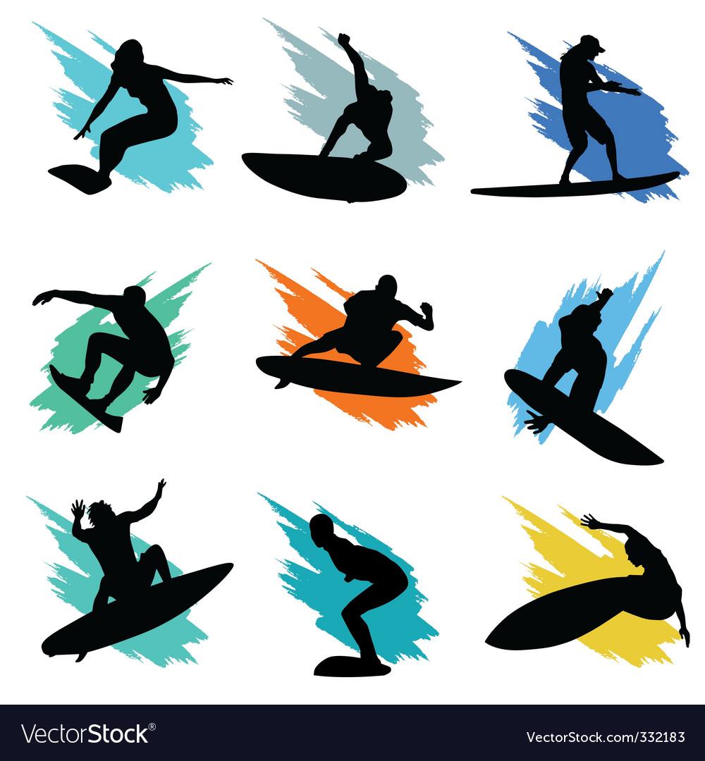 Surfing vector | Price: 1 Credit (USD $1)