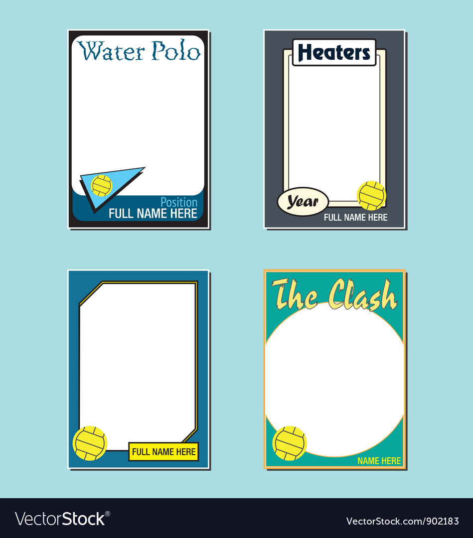 Water polo cards vector | Price: 1 Credit (USD $1)