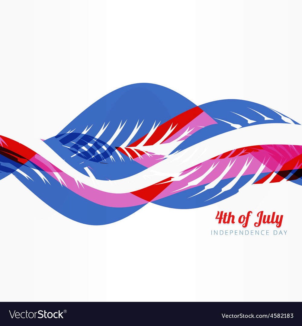 Wave style american 4th of july vector | Price: 1 Credit (USD $1)