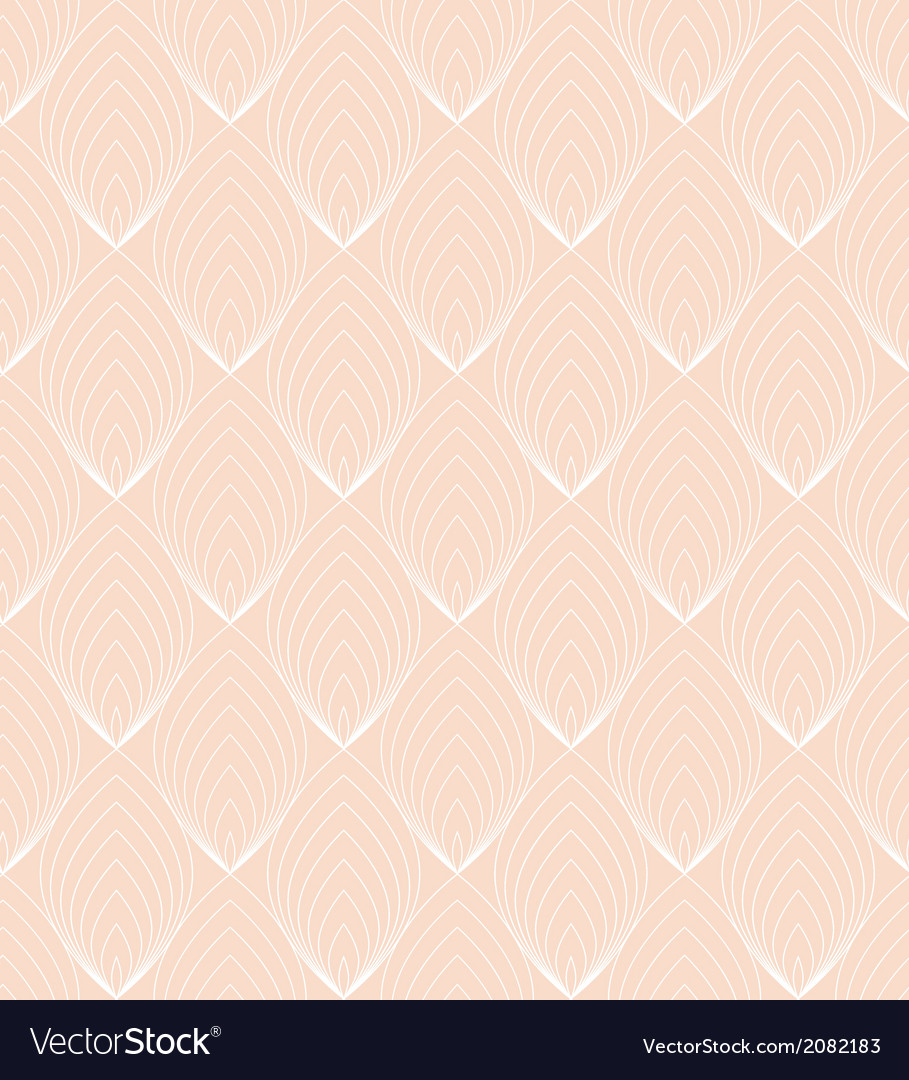 White line leaves seamless pattern on pink vector | Price: 1 Credit (USD $1)