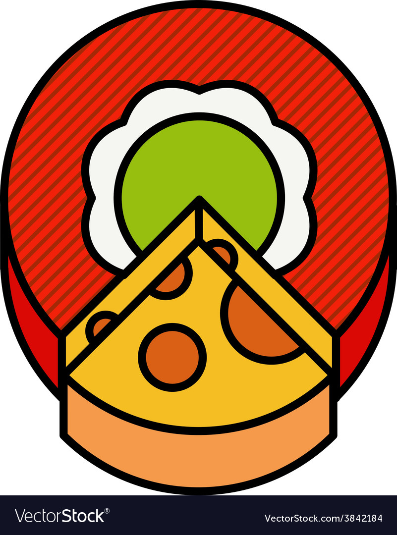 A circle cut off a piece of cheese vector   Price: 1 Credit (USD $1)