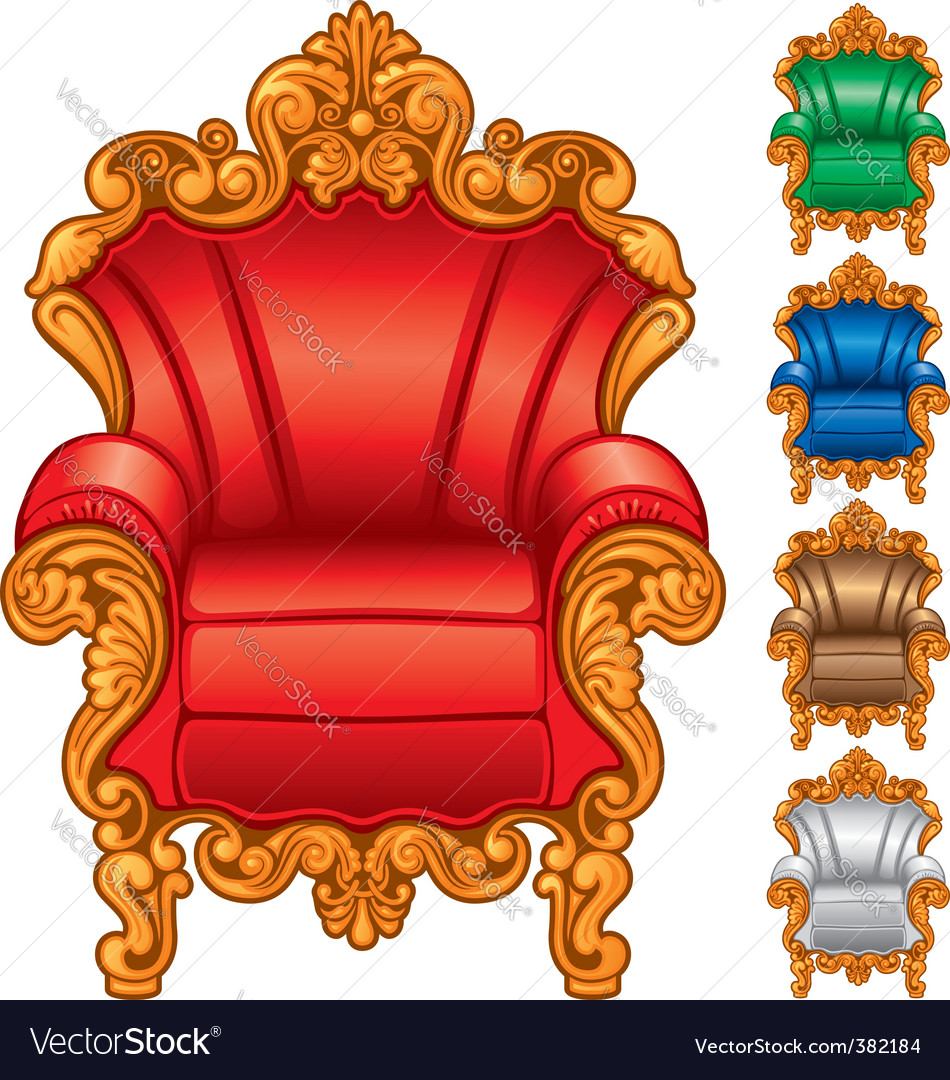 Antique armchair vector | Price: 1 Credit (USD $1)