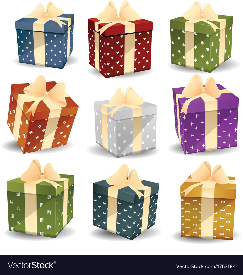 Colorful gifts vector | Price: 1 Credit (USD $1)