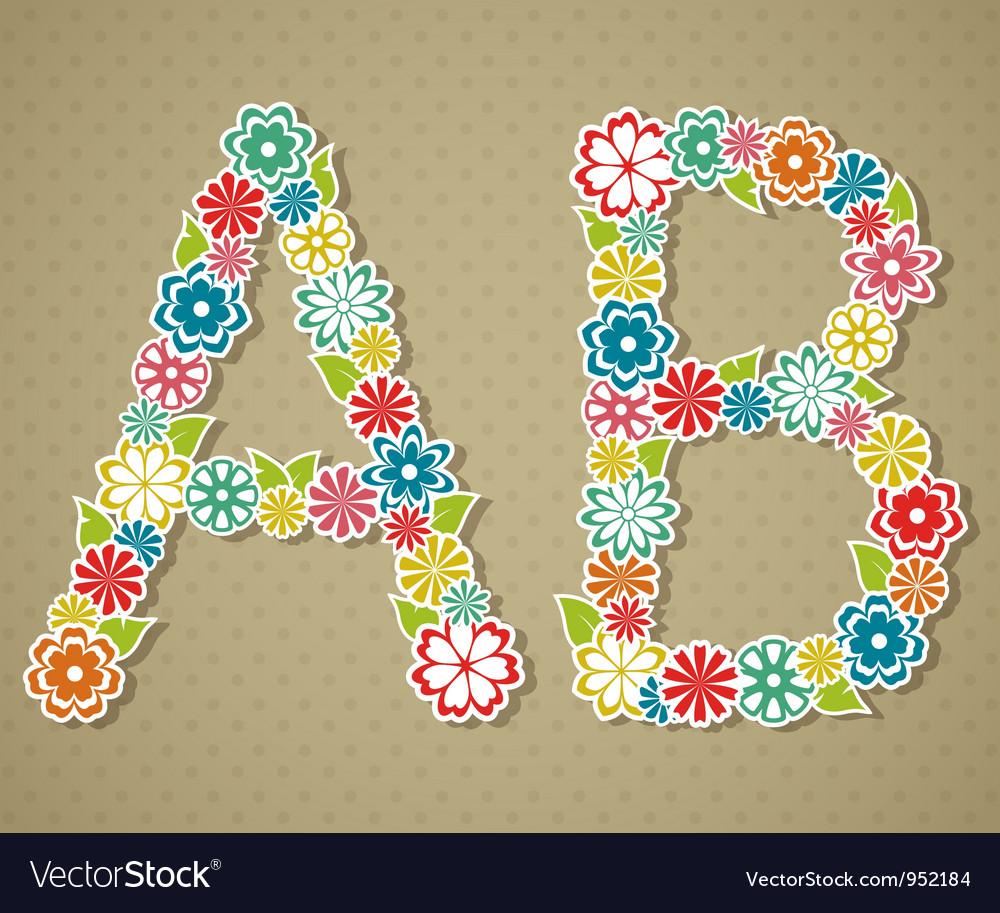 Floral alphabet vector | Price: 1 Credit (USD $1)