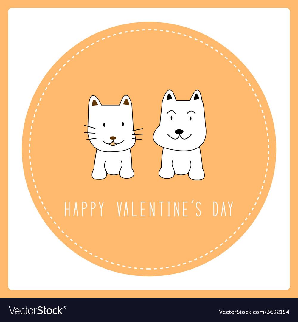 Happy valentine s day card6 vector | Price: 1 Credit (USD $1)