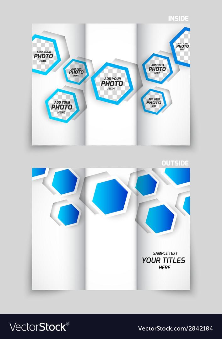 Tri-fold brochure template design vector   Price: 1 Credit (USD $1)