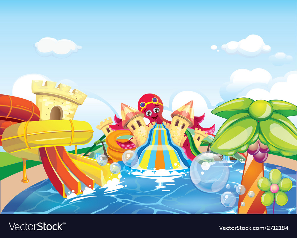 Water park big vector | Price: 3 Credit (USD $3)