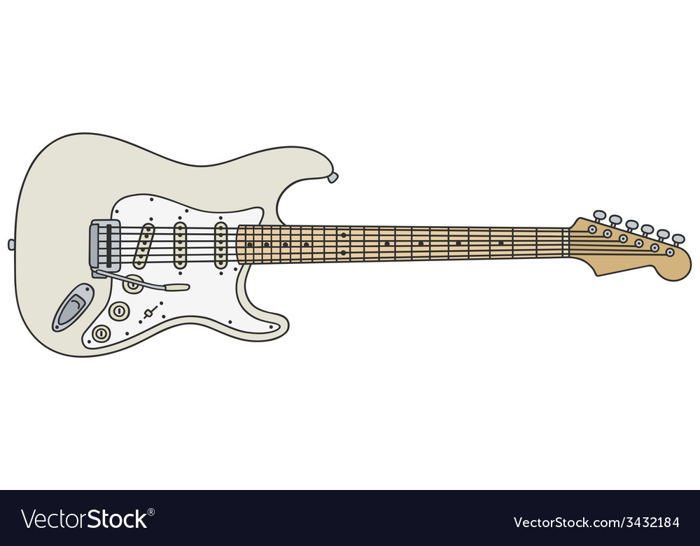 White electric guitar vector | Price: 1 Credit (USD $1)