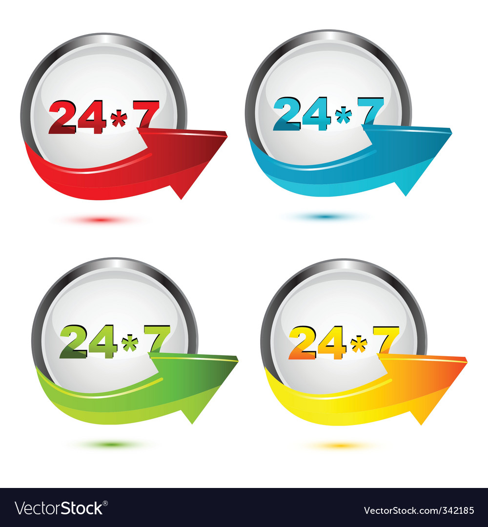 247 icon vector | Price: 1 Credit (USD $1)