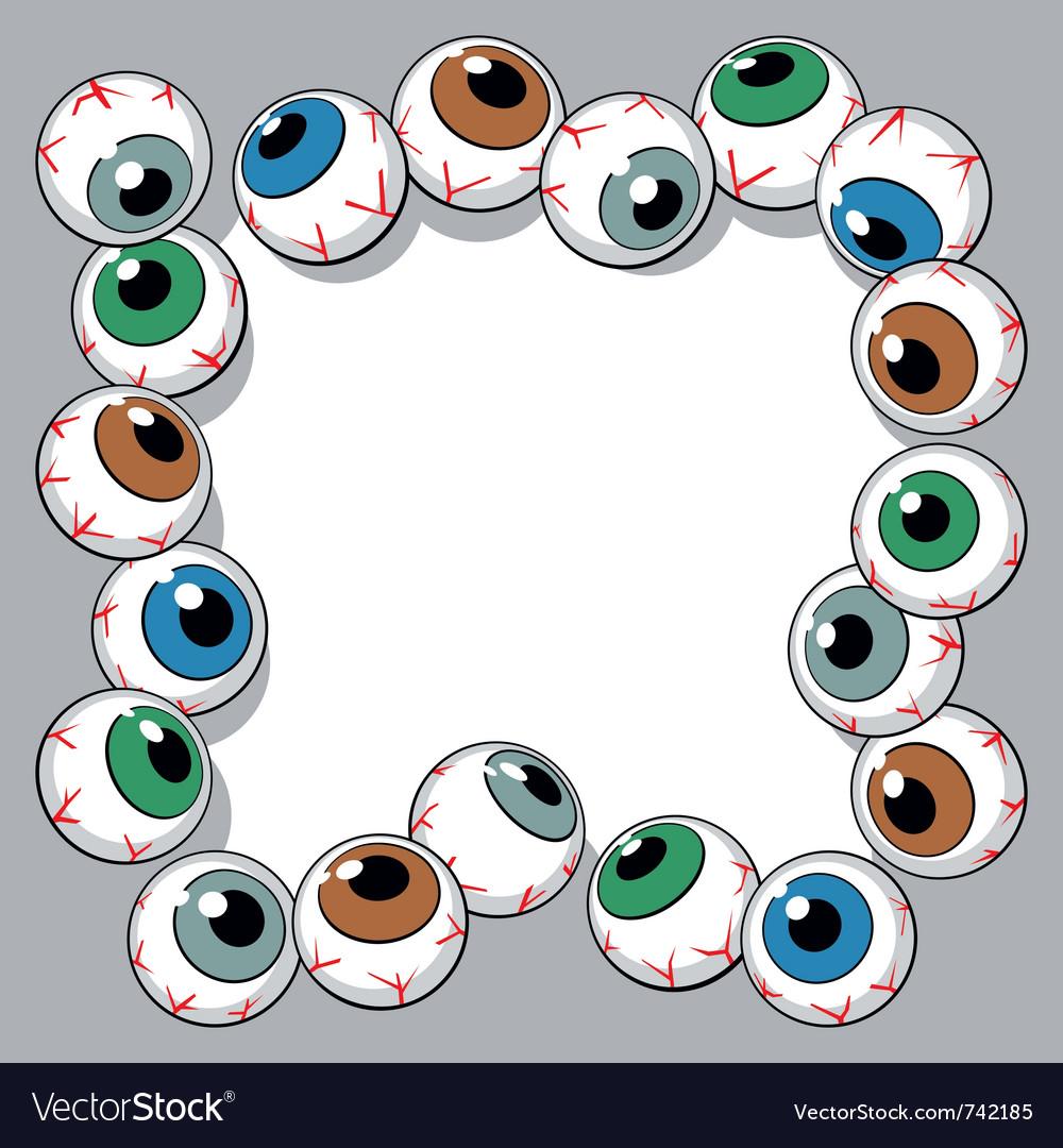 Eyeballs frame vector | Price: 1 Credit (USD $1)