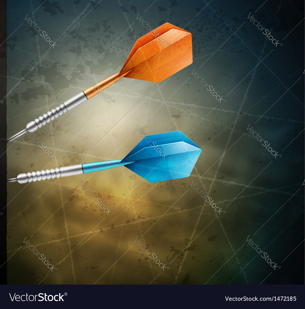 Grunge background with darts vector | Price: 1 Credit (USD $1)