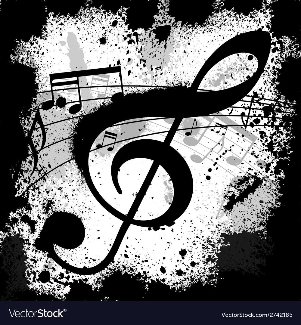 Ink blots treble clef vector | Price: 1 Credit (USD $1)