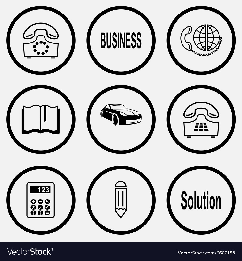 Rotary phone business global communication book vector | Price: 1 Credit (USD $1)