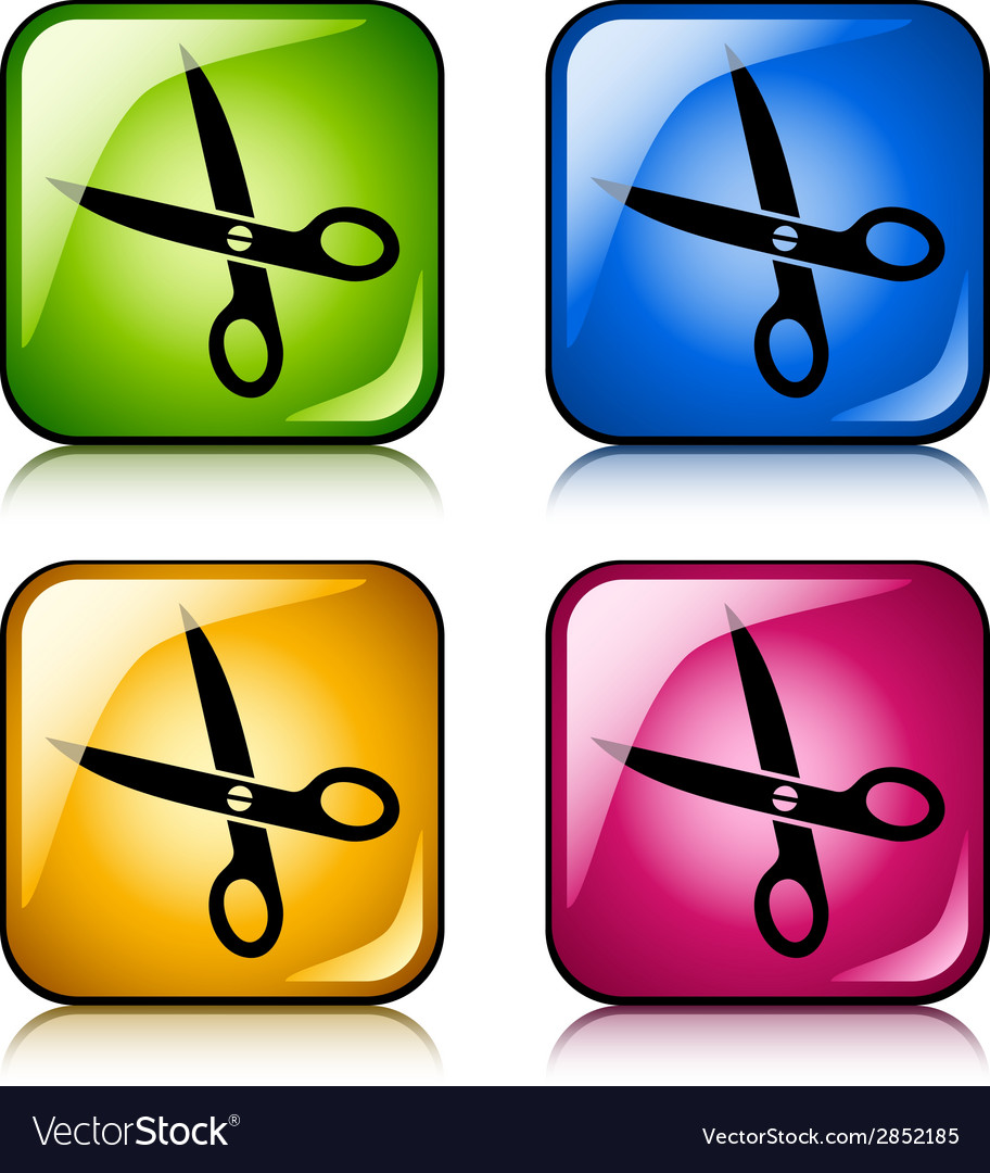 Scissors buttons vector | Price: 1 Credit (USD $1)