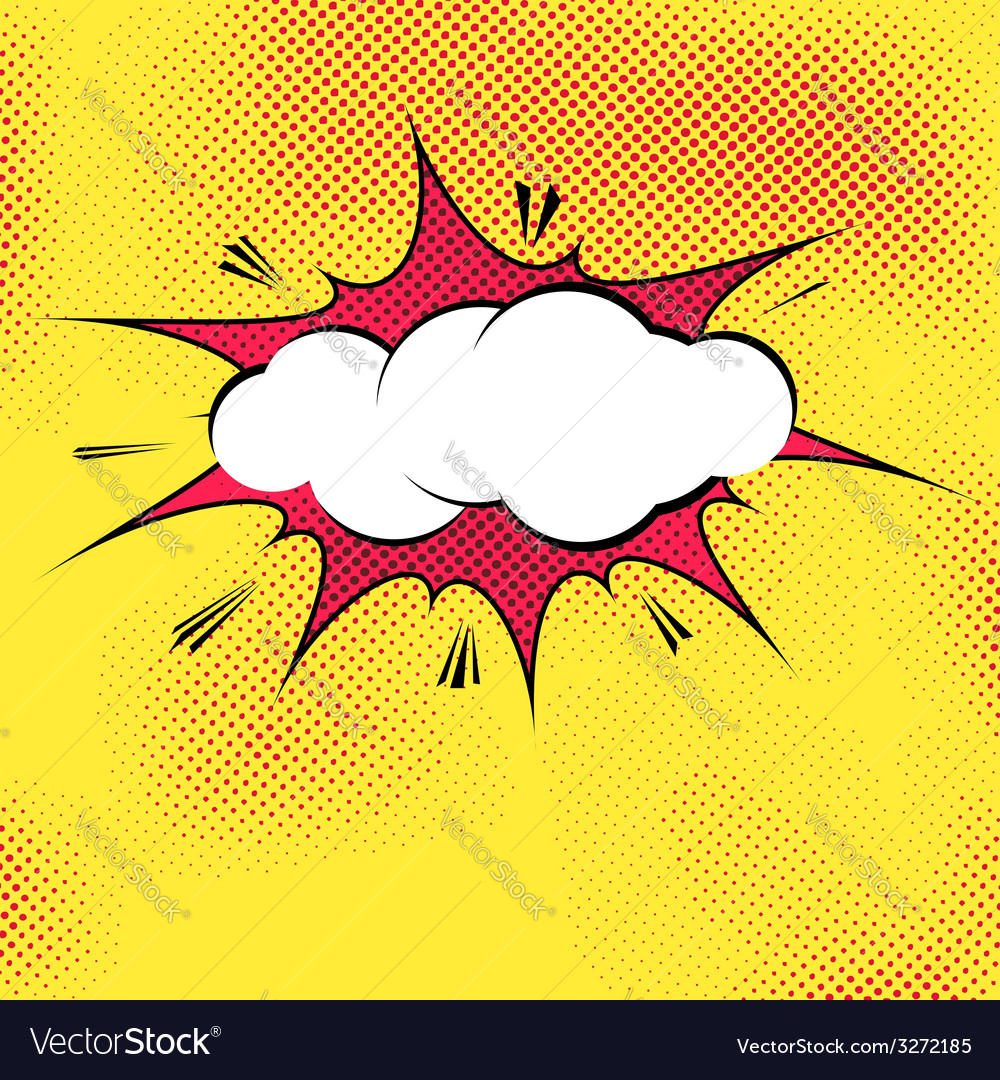 Speech bubble popart splash explosion template vector