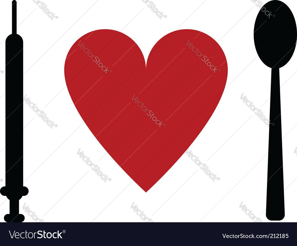 Syringe heart spoon vector | Price: 1 Credit (USD $1)