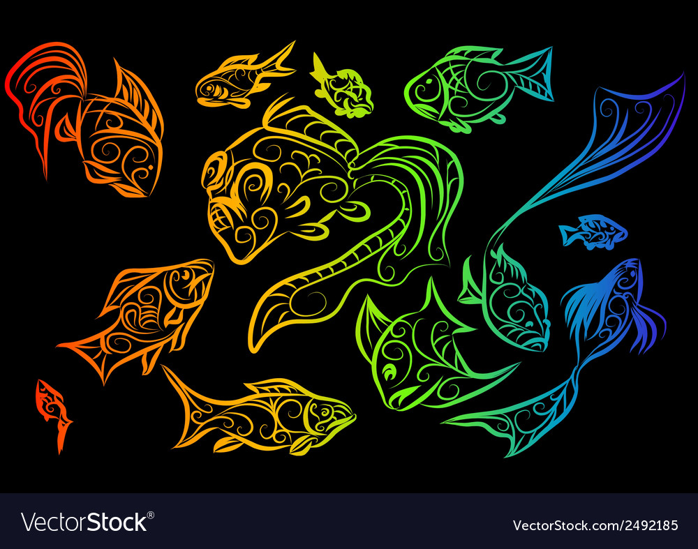 Tropical fish 2 vector | Price: 1 Credit (USD $1)