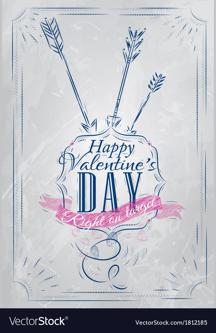 Valentines day poster coat blue vector | Price: 1 Credit (USD $1)