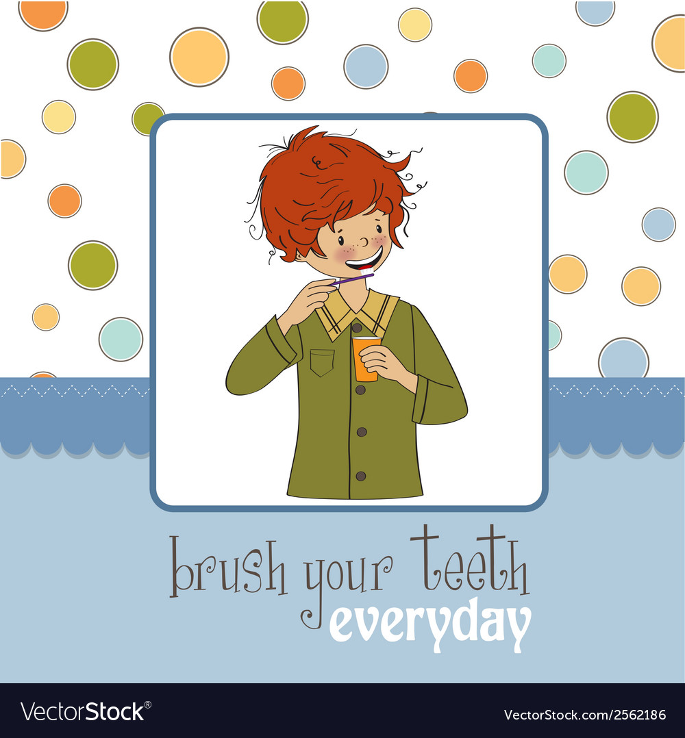Brush your teeth vector | Price: 1 Credit (USD $1)