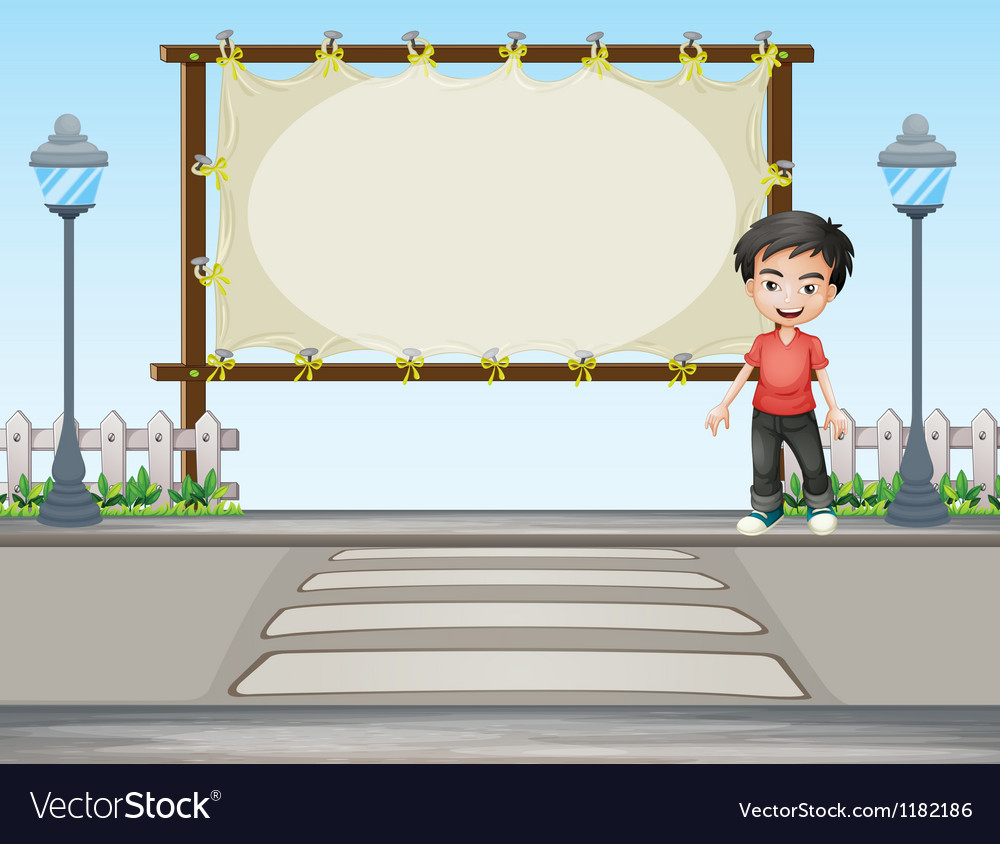 Cartoon roadside signboard vector | Price: 1 Credit (USD $1)