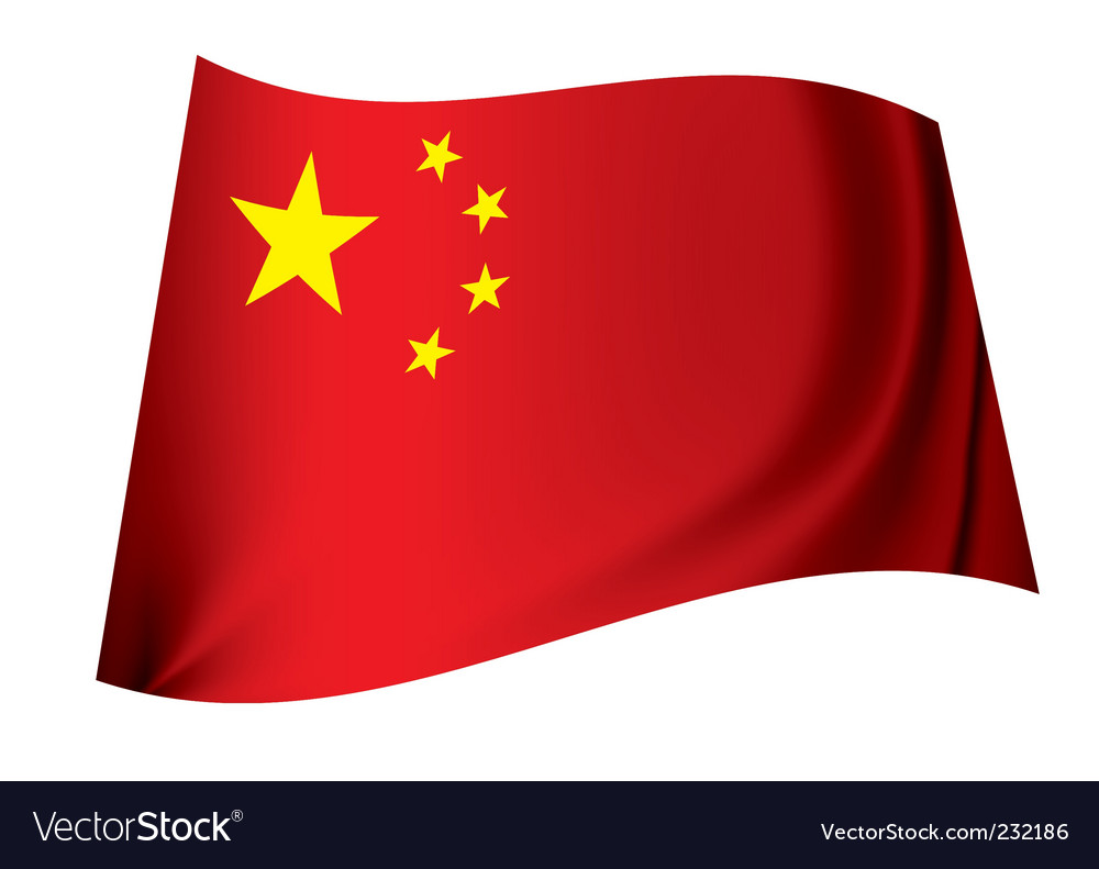 China flag vector | Price: 1 Credit (USD $1)