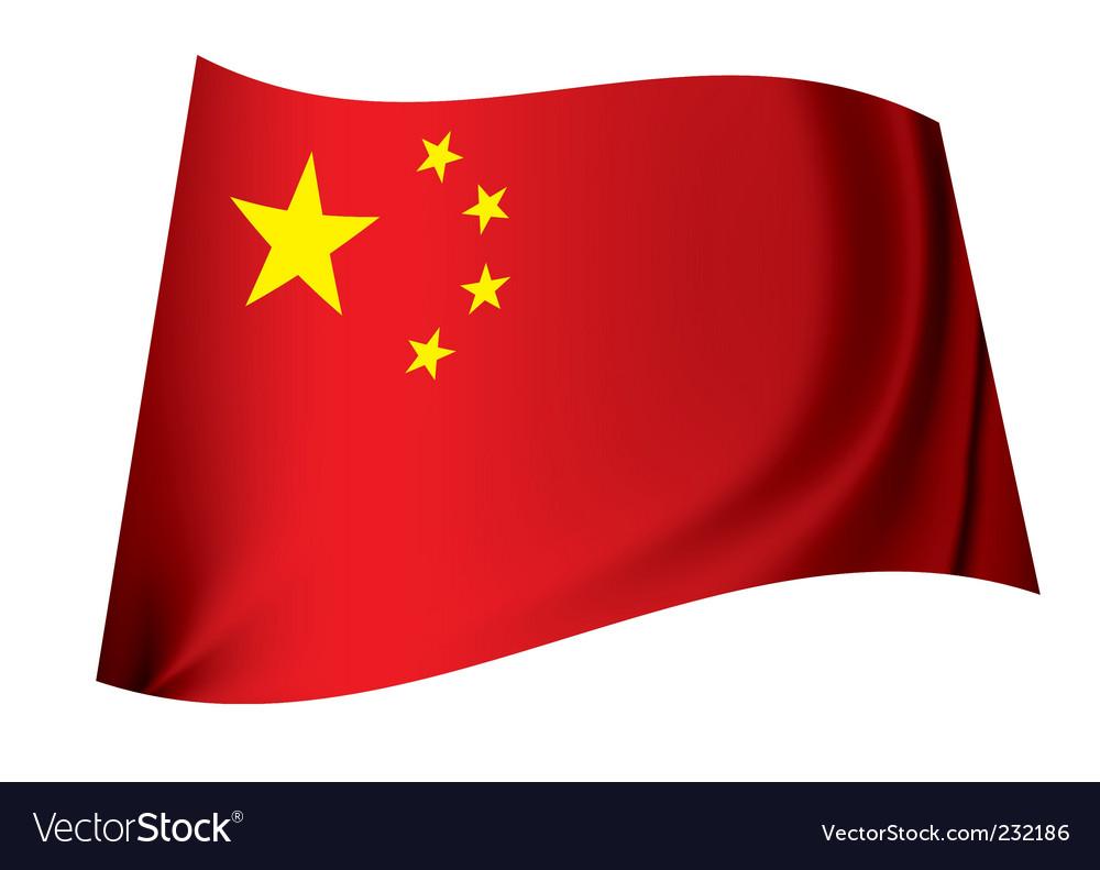 China flag vector   Price: 1 Credit (USD $1)