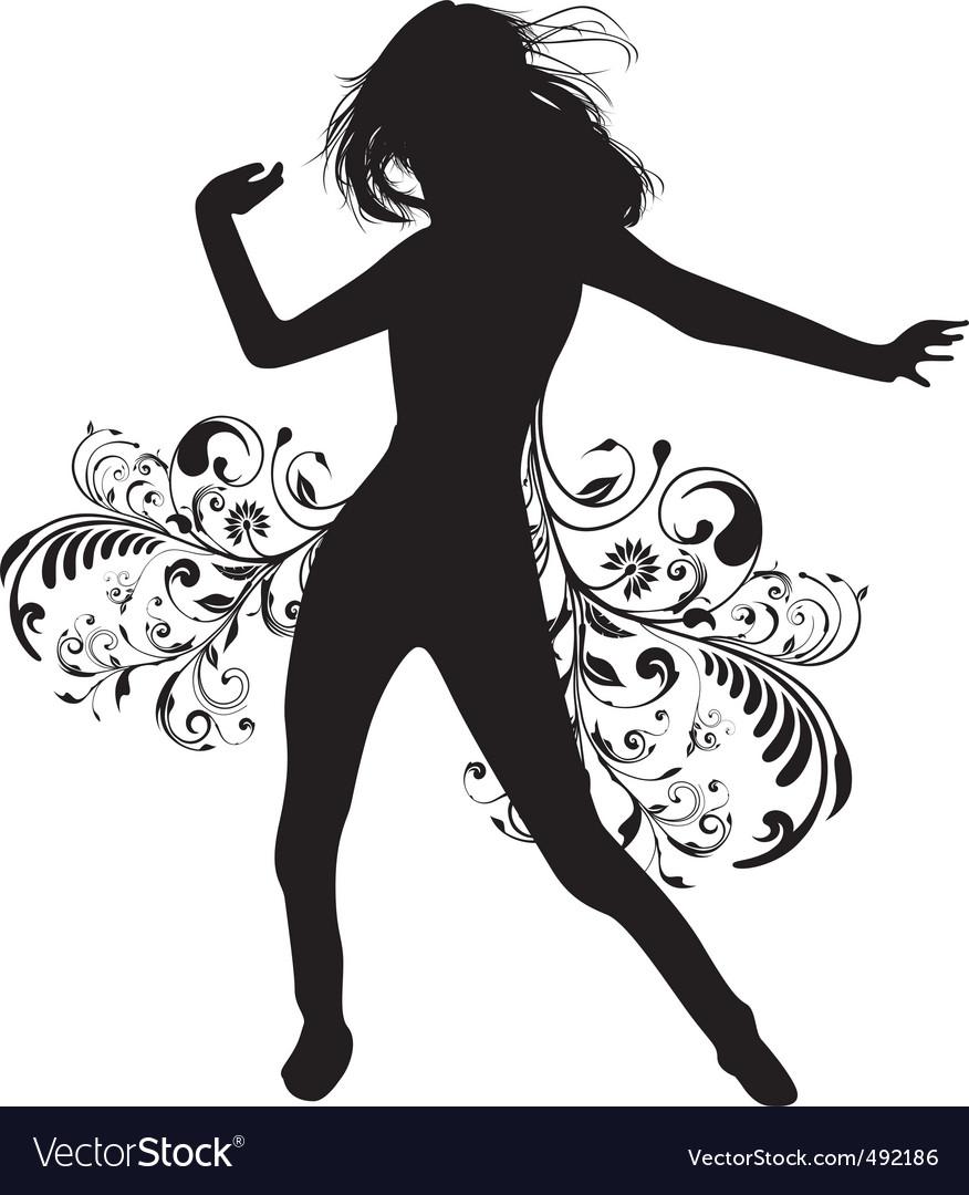 Dancing lady vector | Price: 1 Credit (USD $1)