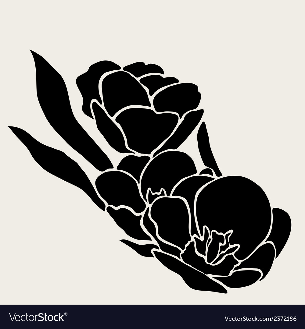 Decorative tulips vector | Price: 1 Credit (USD $1)