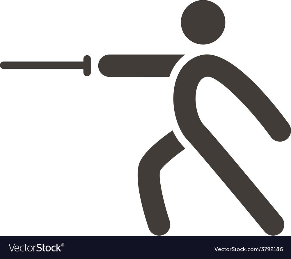 Fencing icon vector | Price: 1 Credit (USD $1)