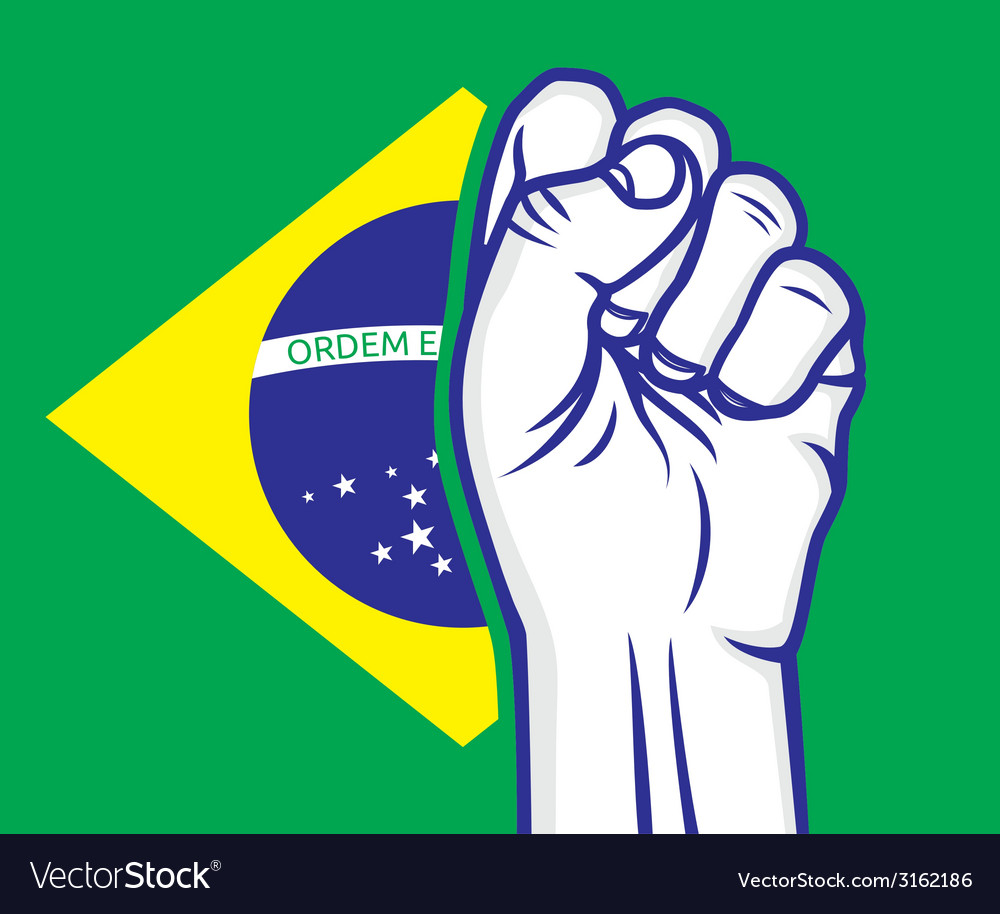 Fist brasil resize vector | Price: 1 Credit (USD $1)