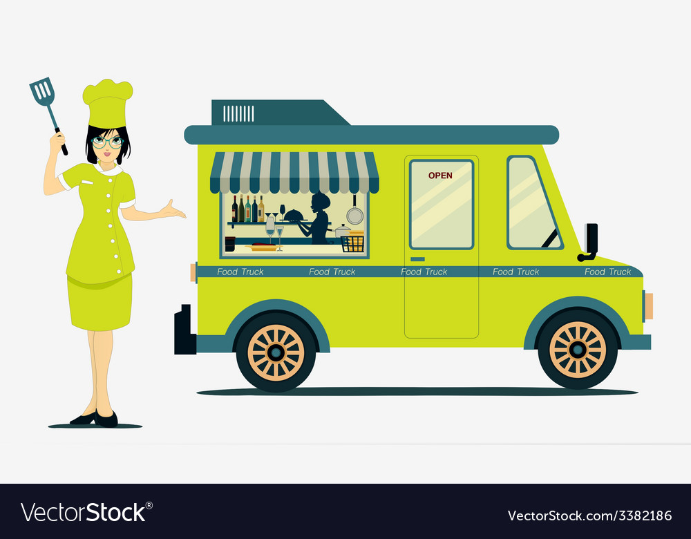 Food truck vector | Price: 3 Credit (USD $3)