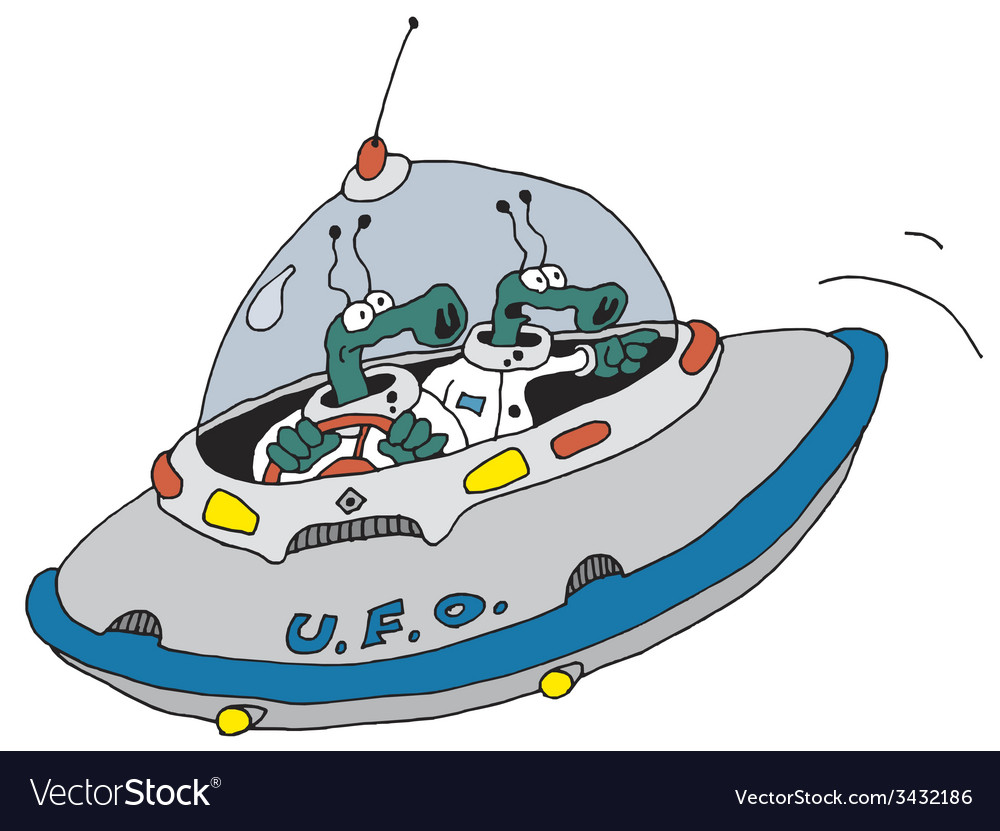Funny ufo vector   Price: 1 Credit (USD $1)
