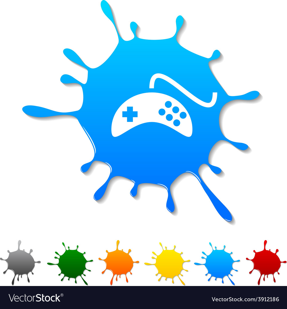 Gamepad blot vector | Price: 1 Credit (USD $1)