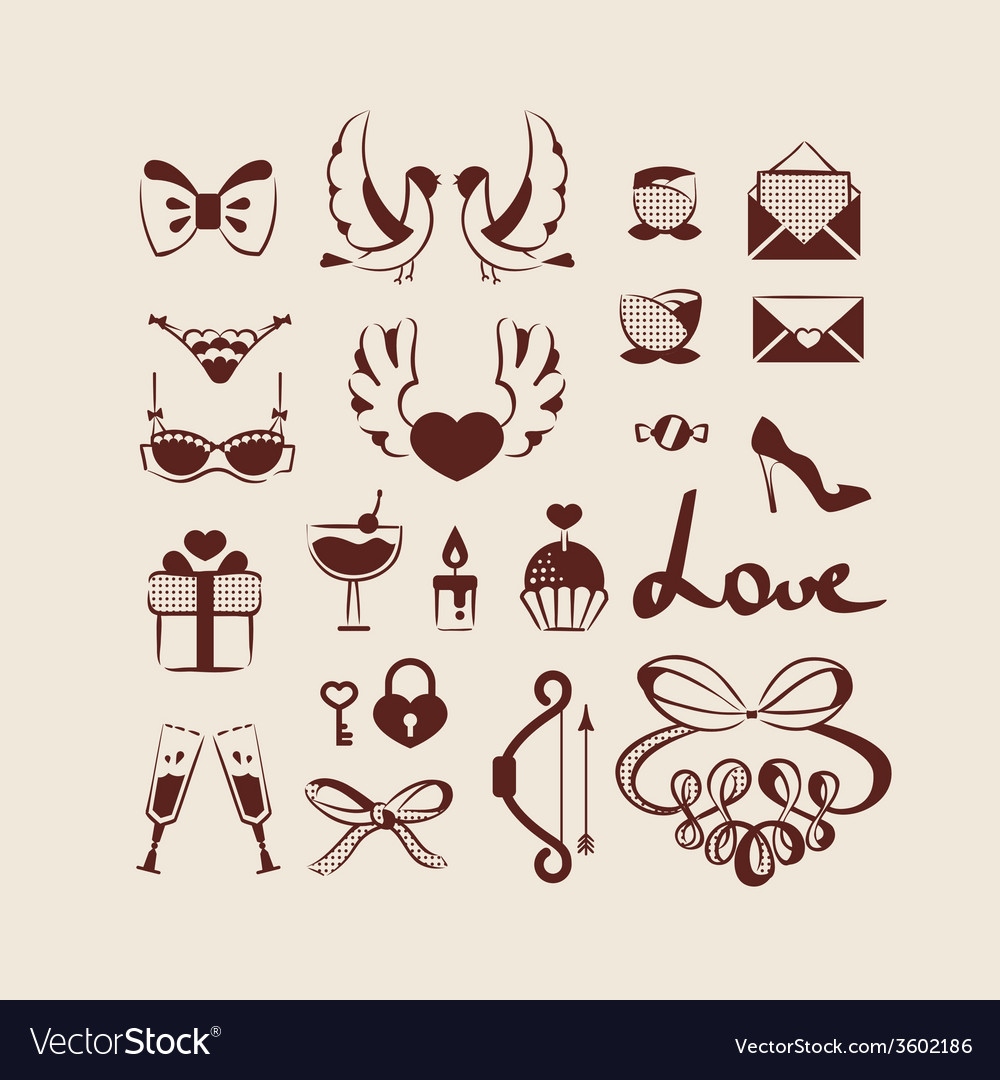 Love icons collection vector | Price: 1 Credit (USD $1)