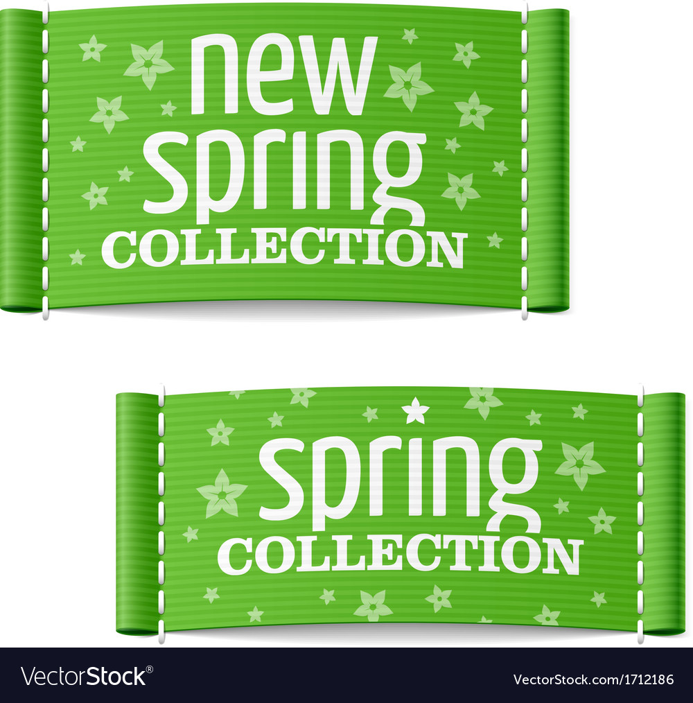 New spring collection clothing labels vector | Price: 1 Credit (USD $1)