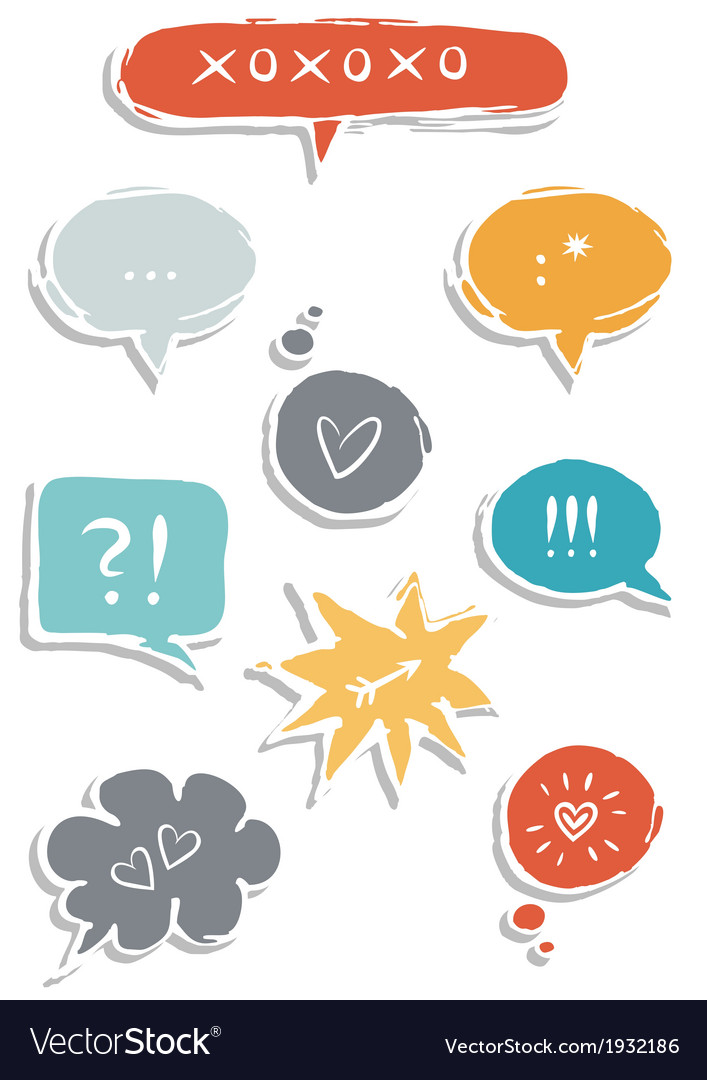 Set of communication bubbles vector | Price: 1 Credit (USD $1)