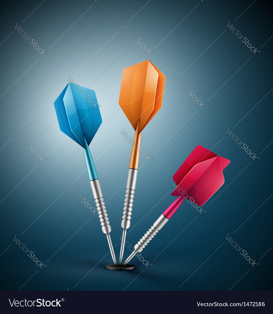 Three darts vector | Price: 1 Credit (USD $1)