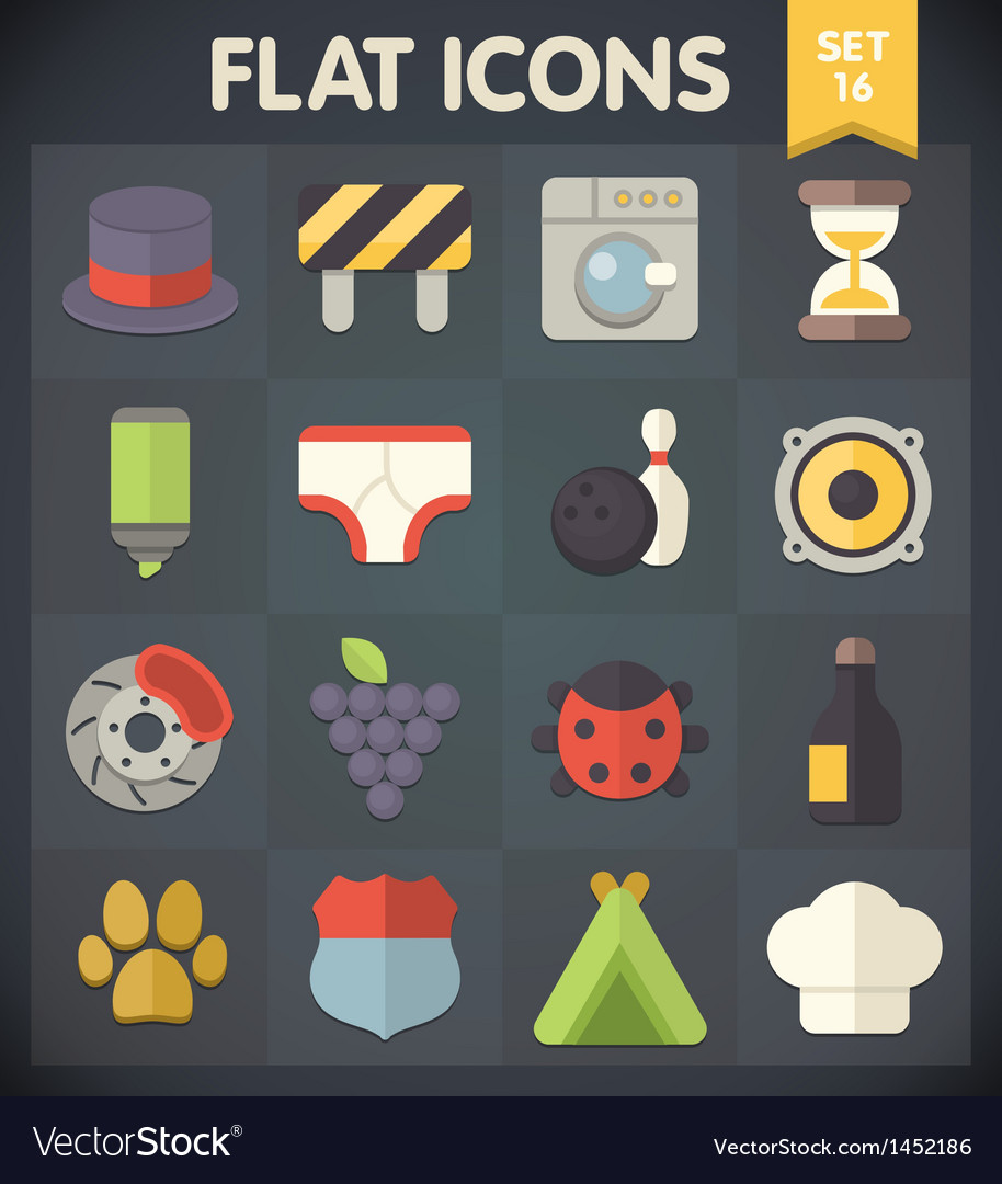 Universal flat icons for applications set 15 vector | Price: 1 Credit (USD $1)