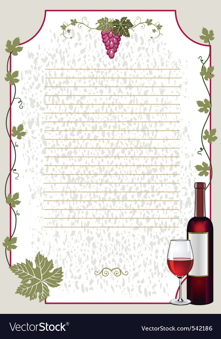 Wine card vector | Price: 3 Credit (USD $3)