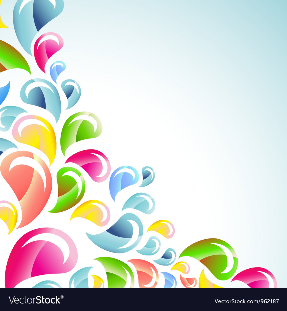 Abstract color bright splash vector | Price: 1 Credit (USD $1)